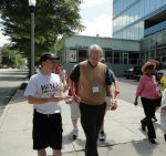 Walking with the Mayor of Decatur, Bill Floyd